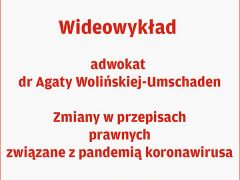 Wideowykład dr Agaty Wolińskiej - Umschaden